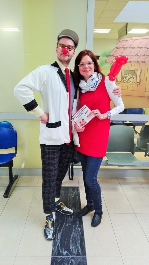 zdravotní klaun a čápová