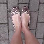 nohy puntíky