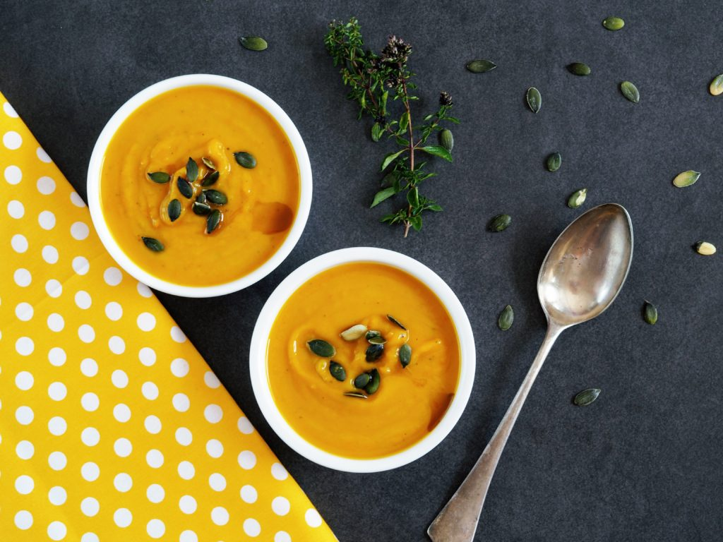 Lahodná krémová polévka zdýně hokkaidó
