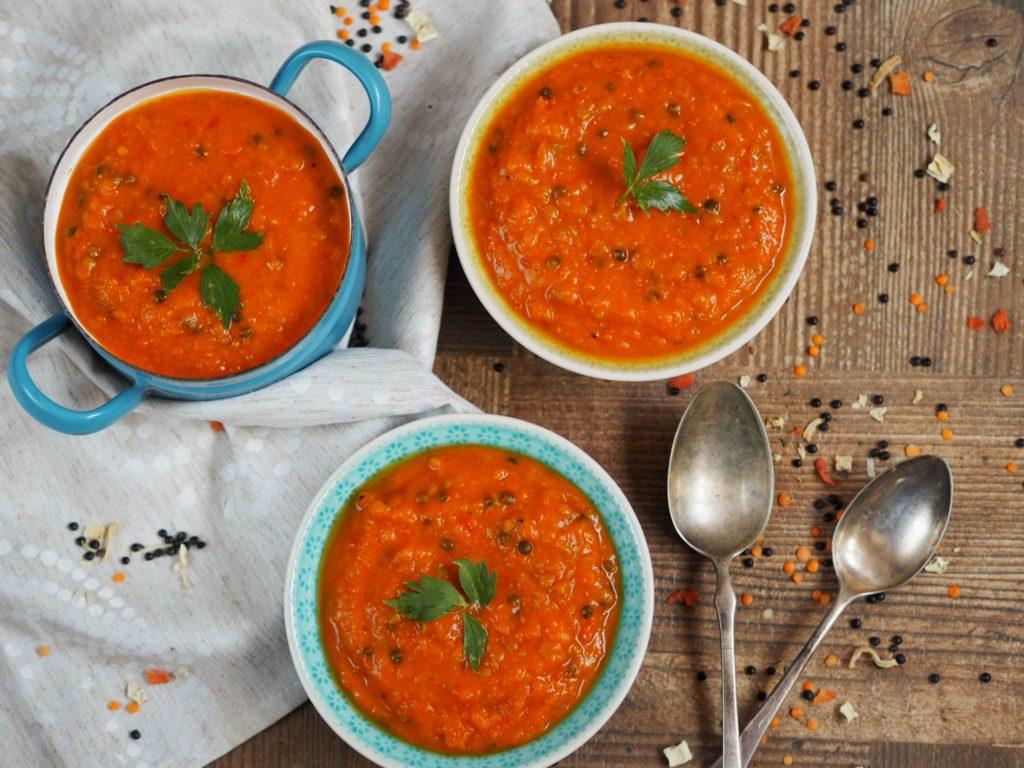 Dýňová polévka skapií ačočkou